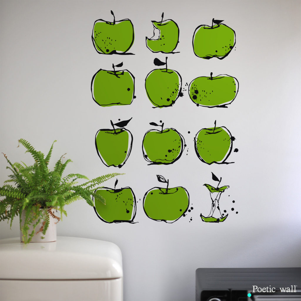 Stickers pommes cuisine poetic wall
