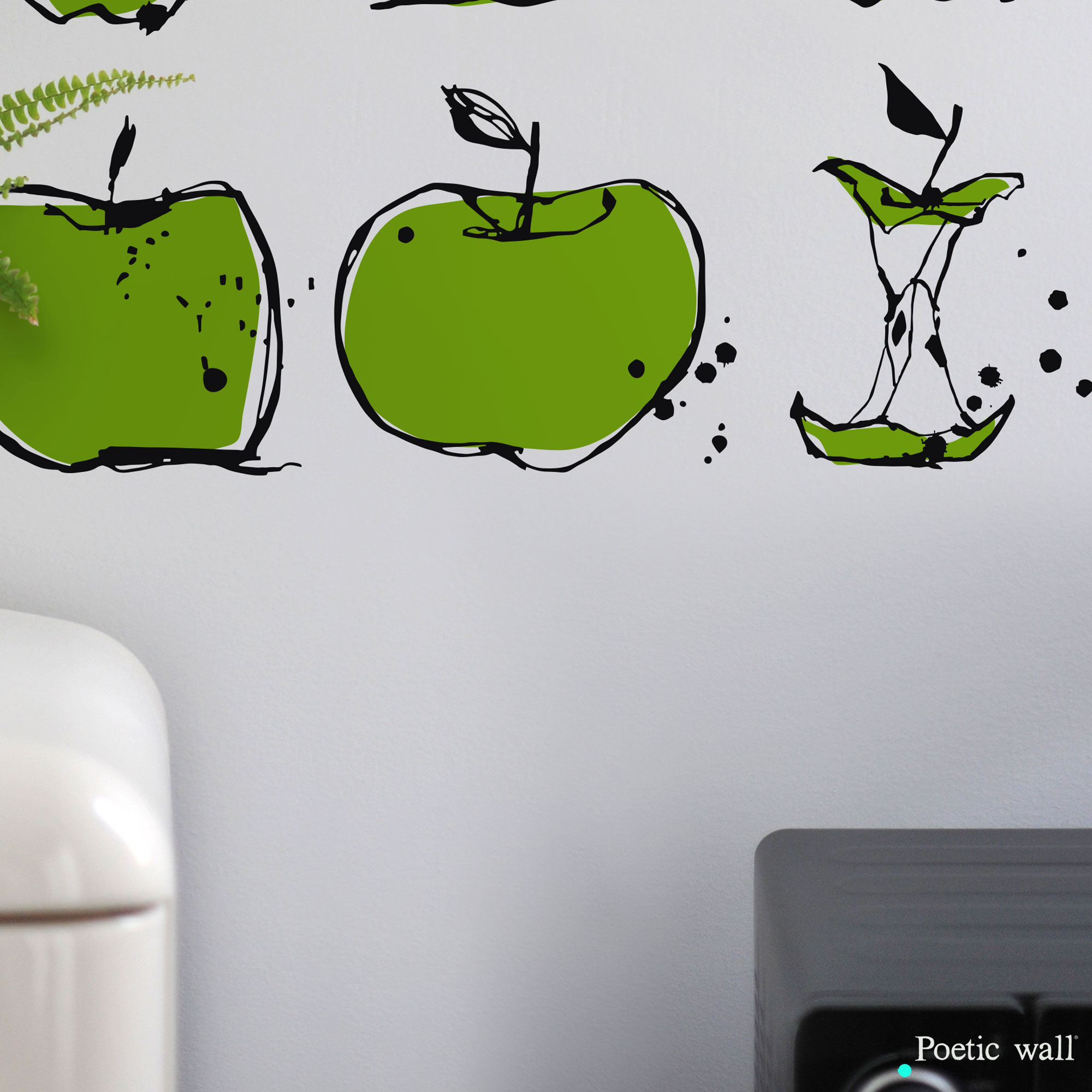 Stickers pomme cuisine Poetic Wall