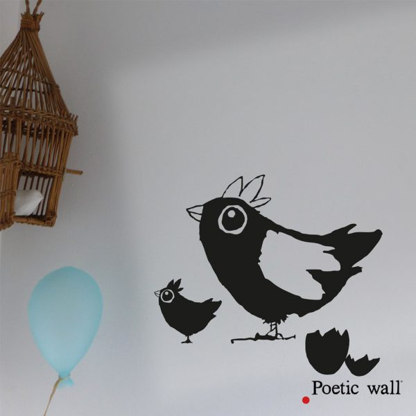 stickers-poeticwall-famille-poulette