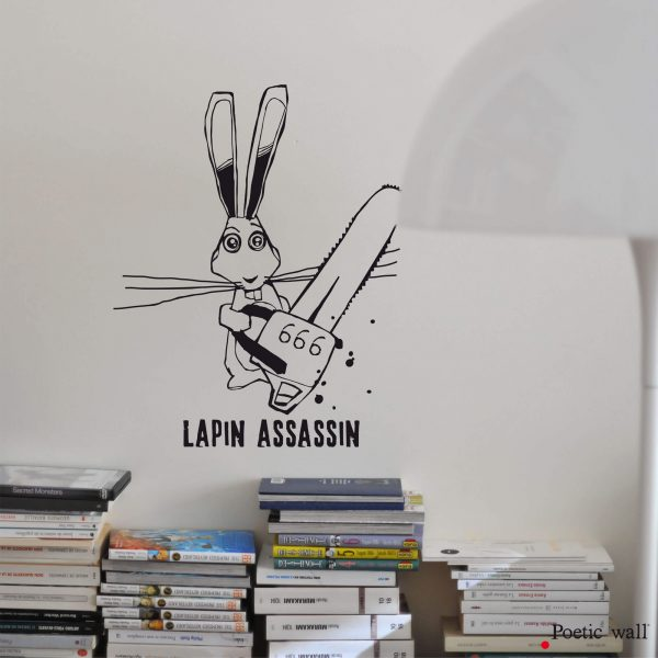 Stickers Lapin assassin by Poetic Wall