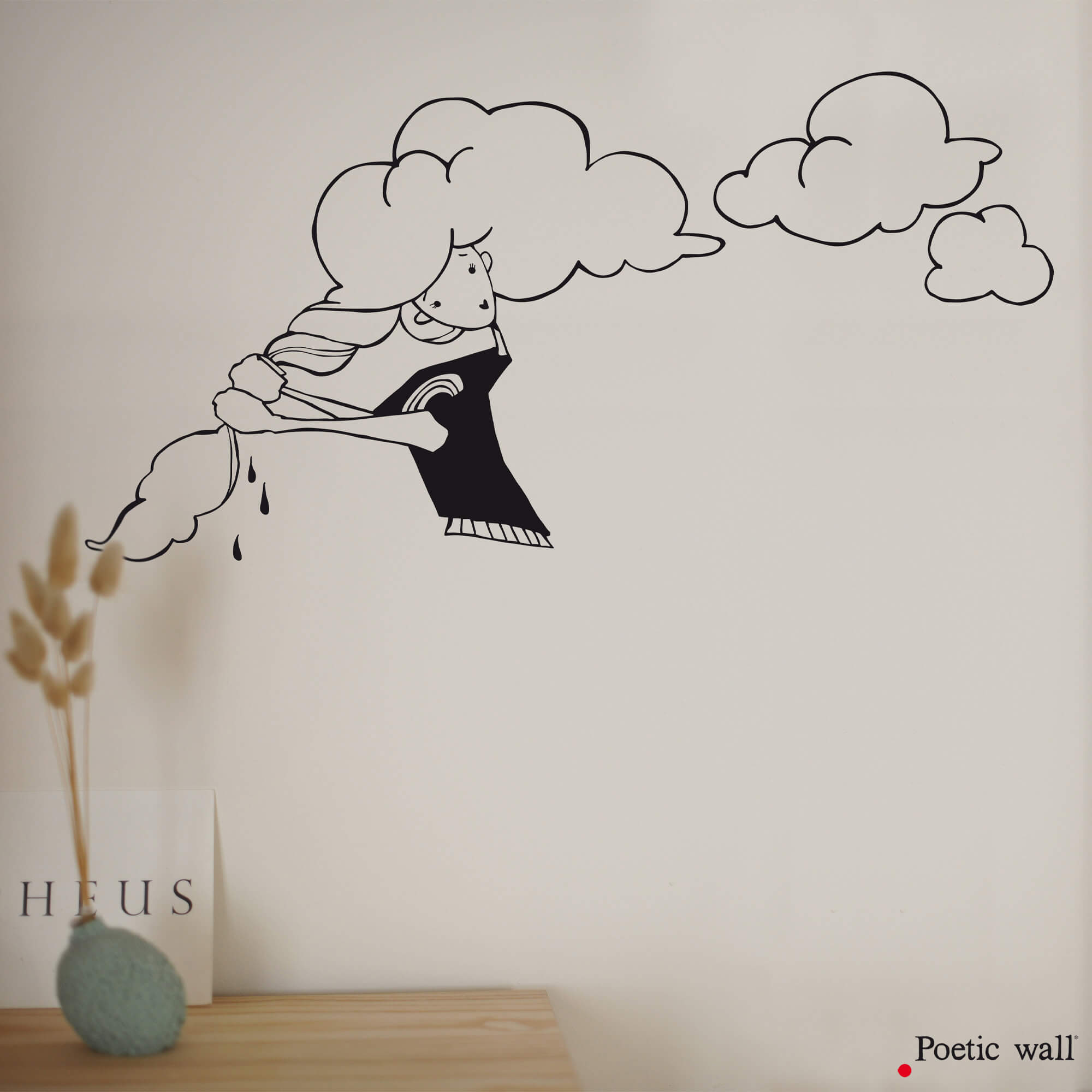 Stickers NANANUAGE de pluie by Poetic Wall