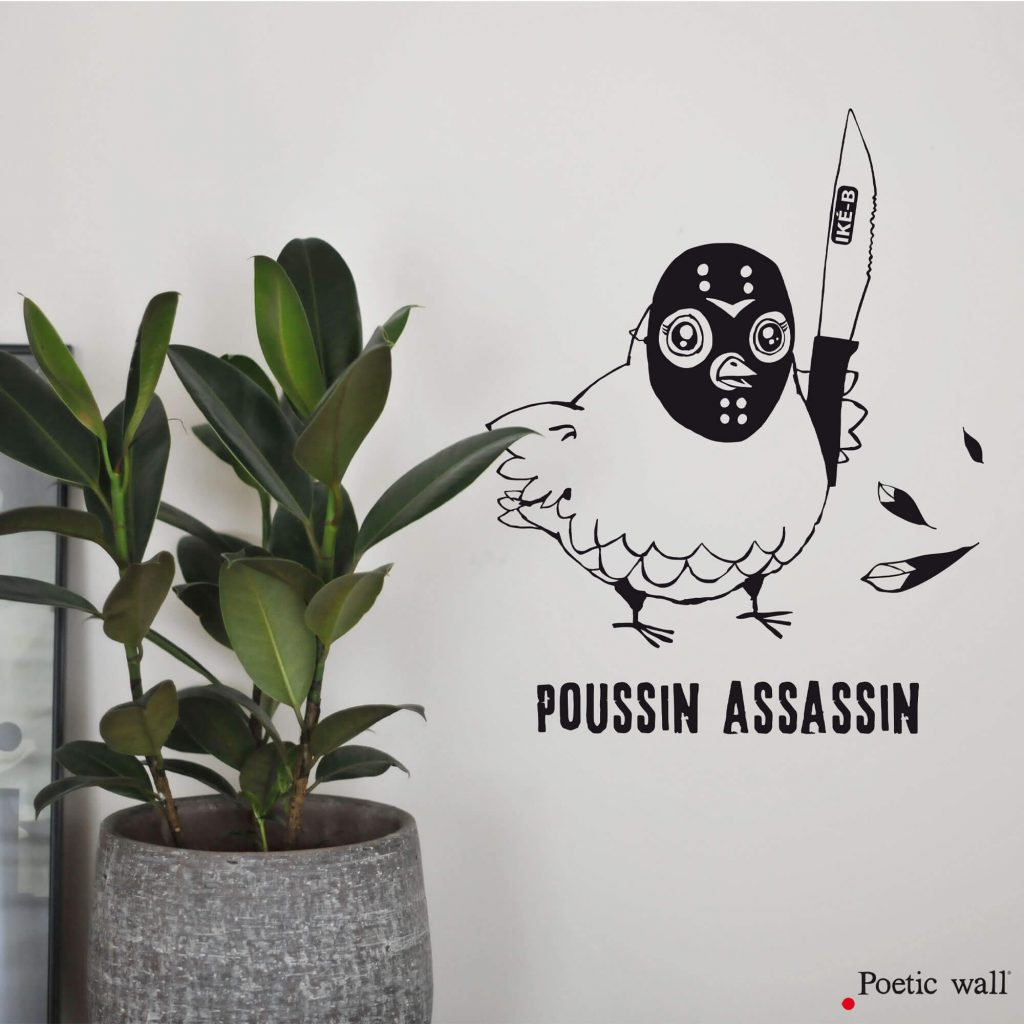 Stickers poussin assassin by Poetic Wall