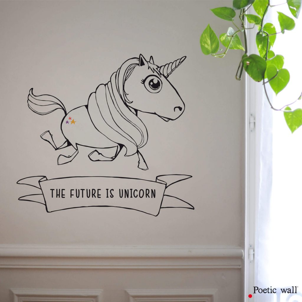 Stickers Licorne Unicorne by Poetic Wall