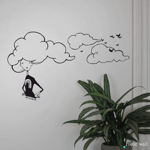 Stickers NANANUAGE aux oiseaux by Poetic Wall