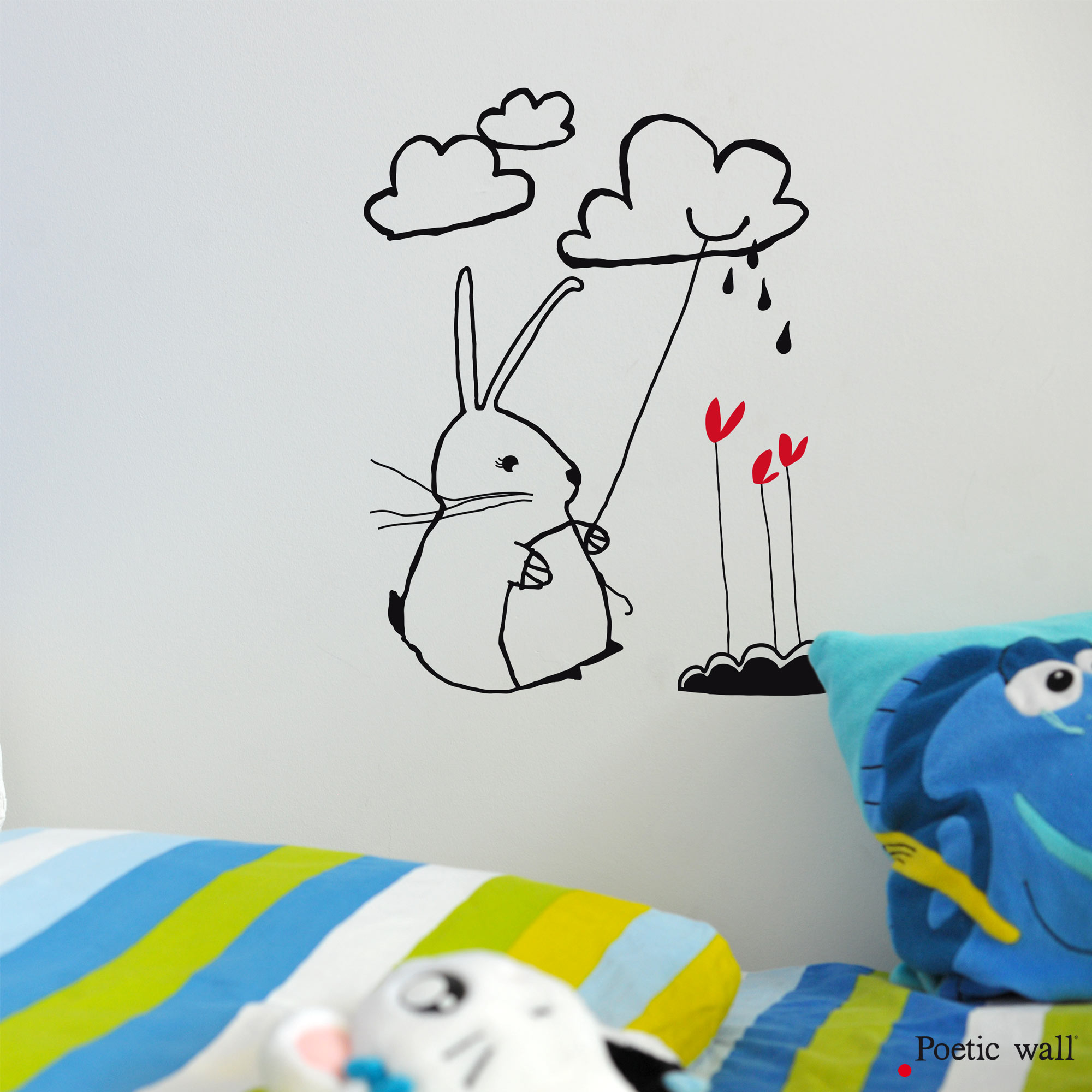 Sticker enfant lapin Lapinoudoud Poetic Wall
