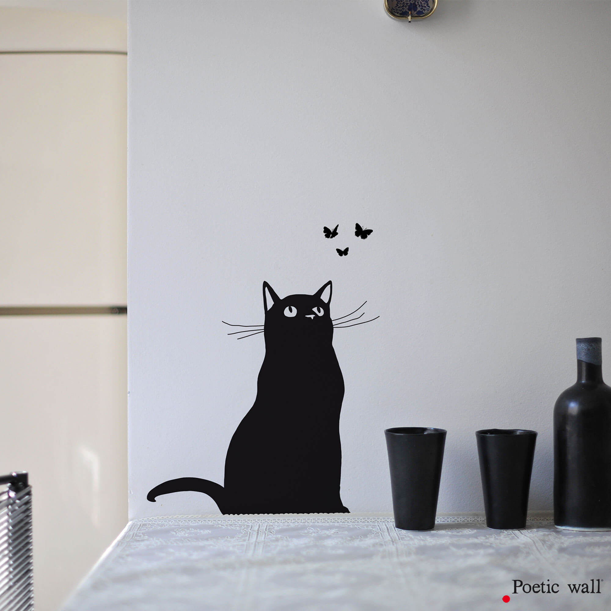 Sticker Chapillon chat Poetic wall