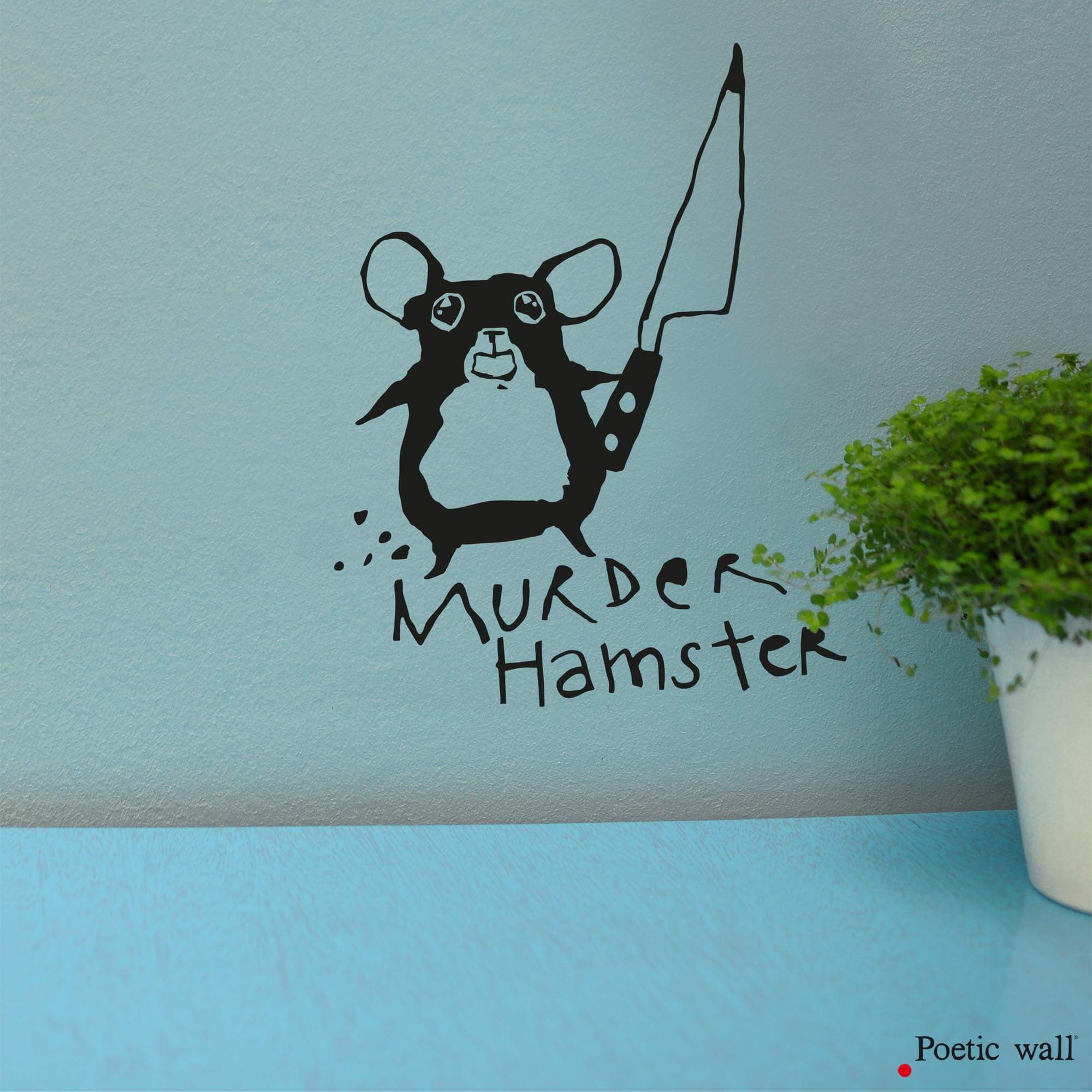 stickers original murder hamster by mel et Kio