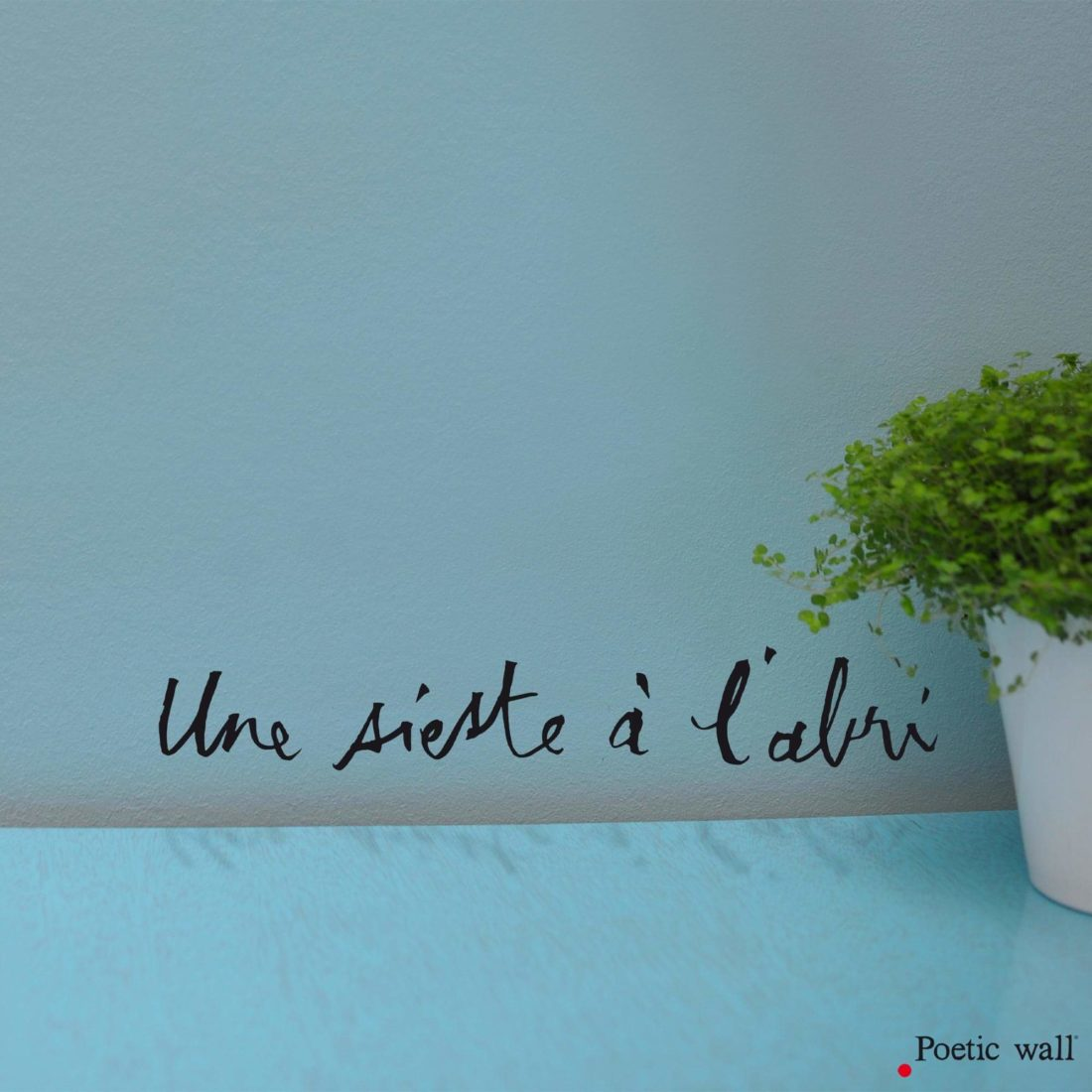 Stickers texte original sieste Poetic Wall