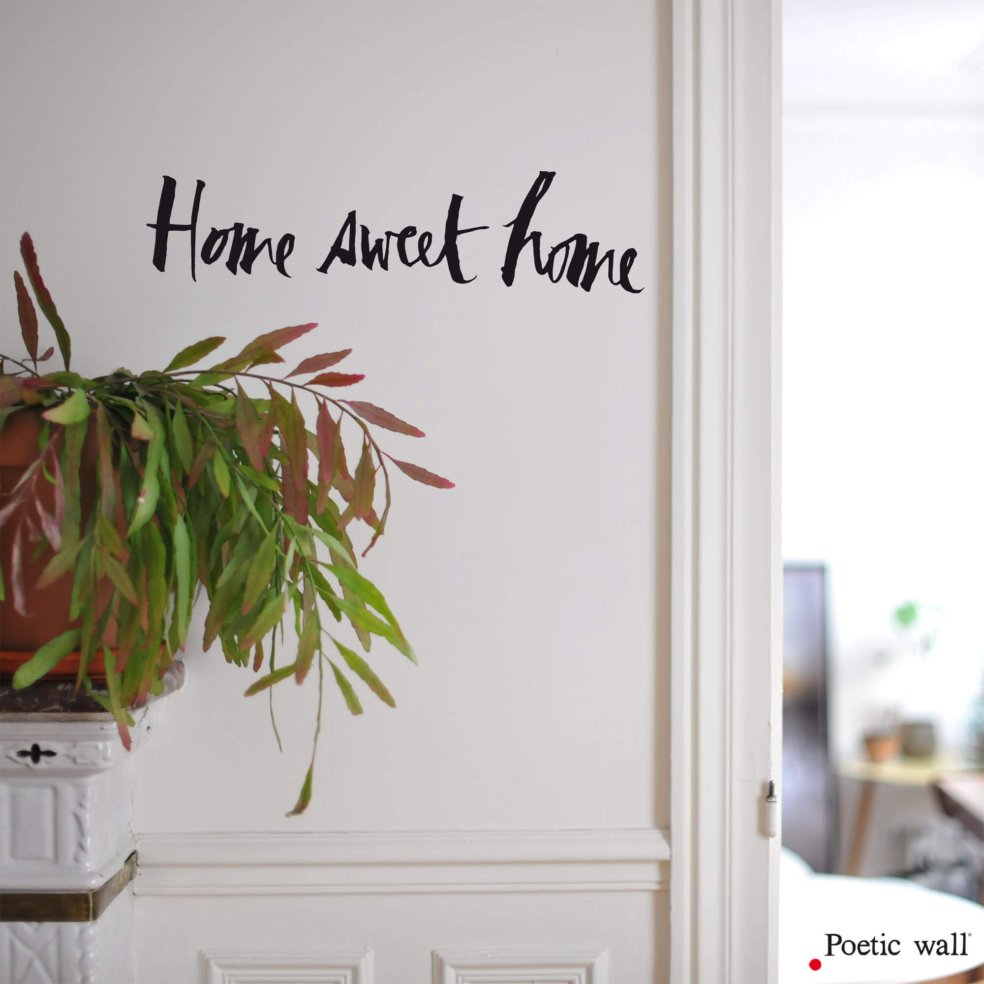 texte home sweet home stickers calligraphies