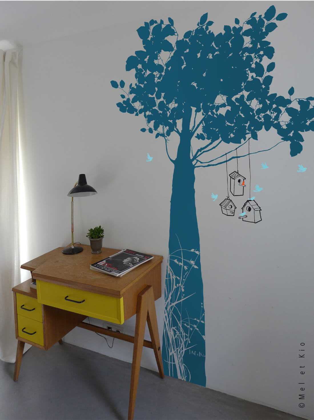 Stickers arbre grand format Murmures©Le Refuge bleu by Poetic Wall