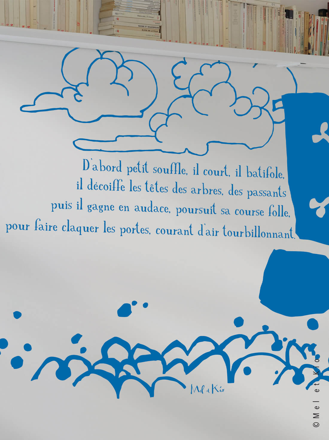 stickers bateau pirate texte poétique original detail by Poetic Wall