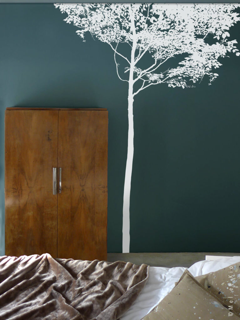 Stickerqs arbre grand format La Cime by Poetic Wall blanc