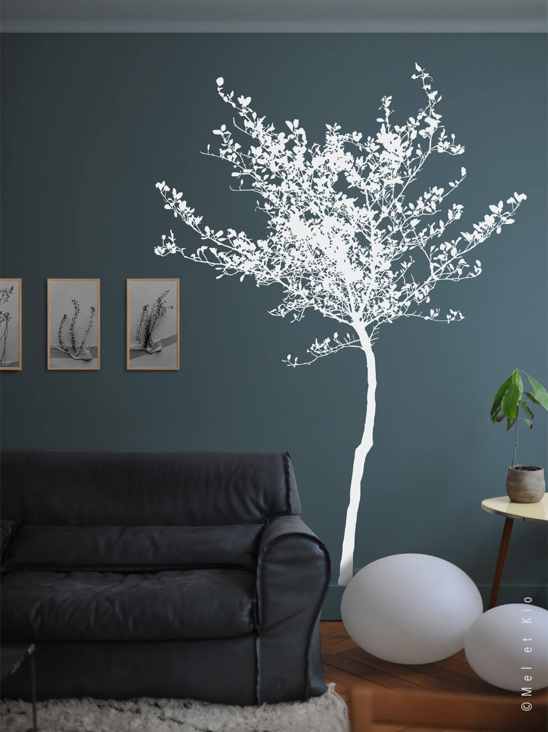stickers arbres blanc grand format premium by Poetic Wall