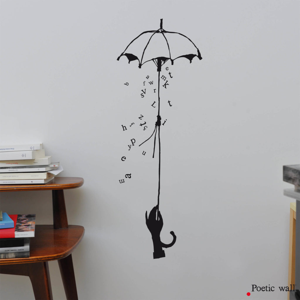 stickers parapluie de lettres by Poetic Wall