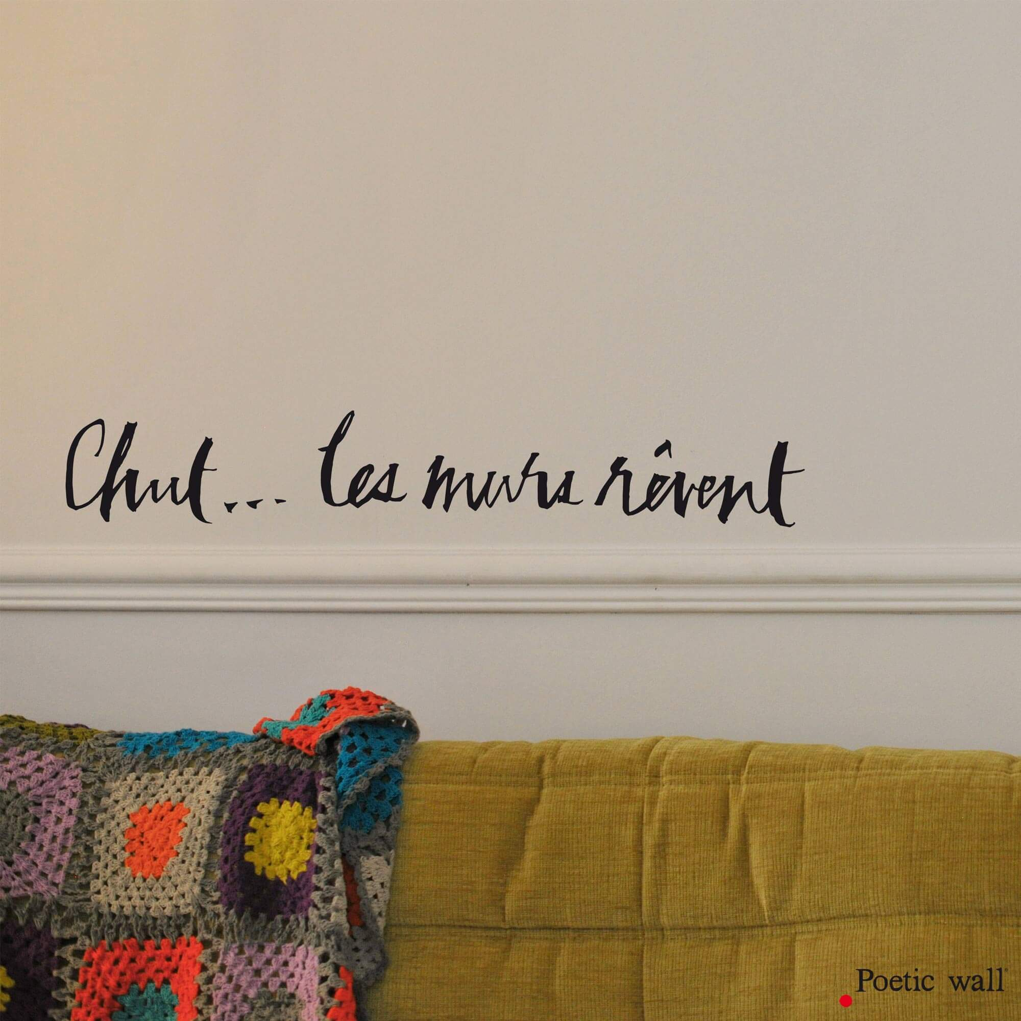 stickers textes calligraphie by Poetic Wall chut... les murs rêvent