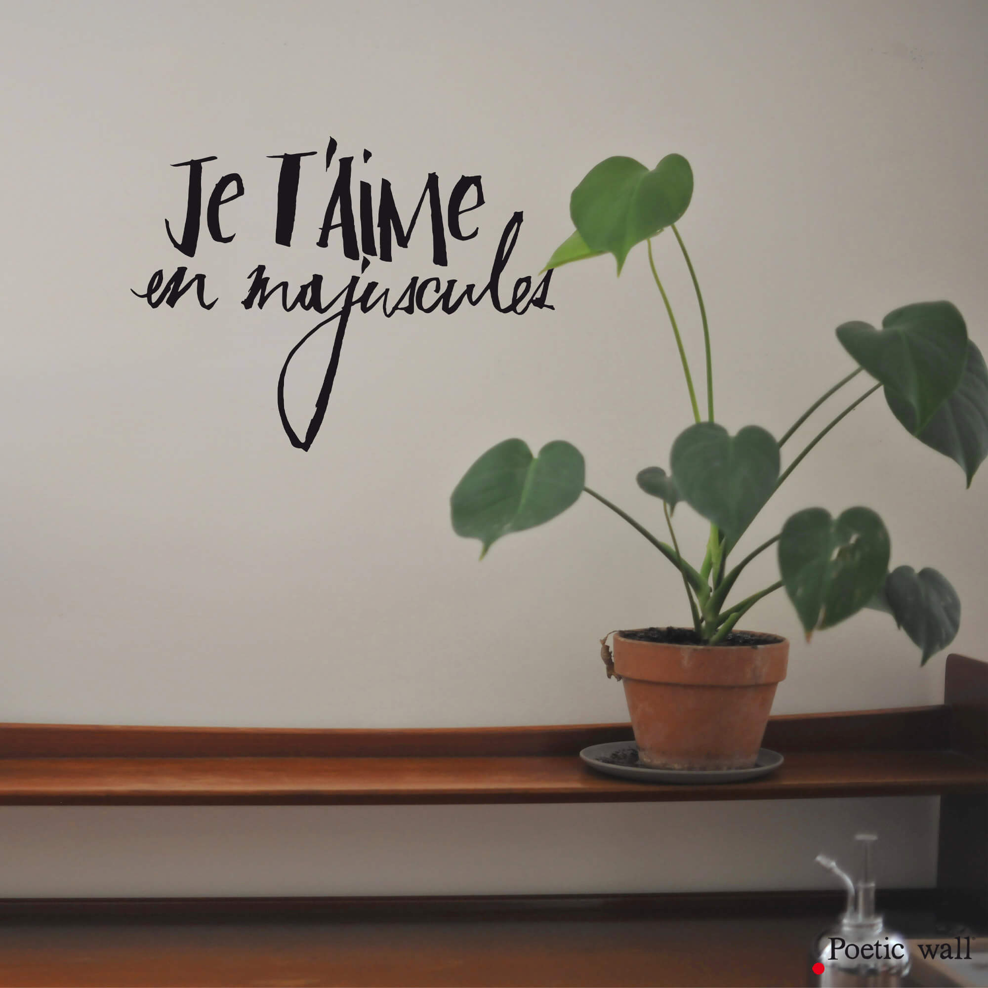 stickers textes originaux by Poetic Wall je t'aime en majuscules