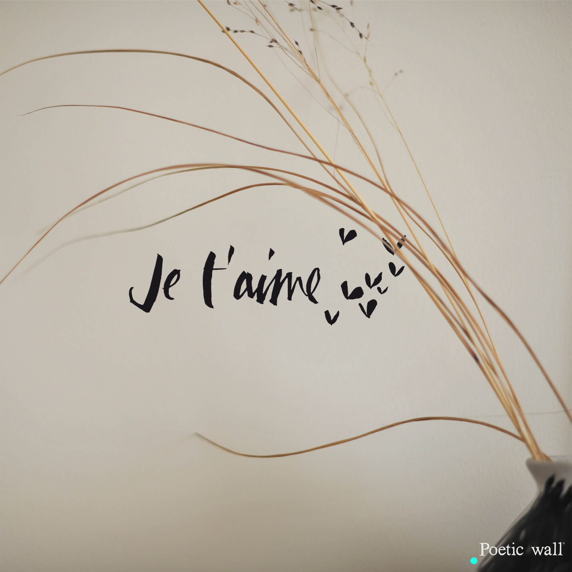 stickers texte je t'aime by Poetic Wall