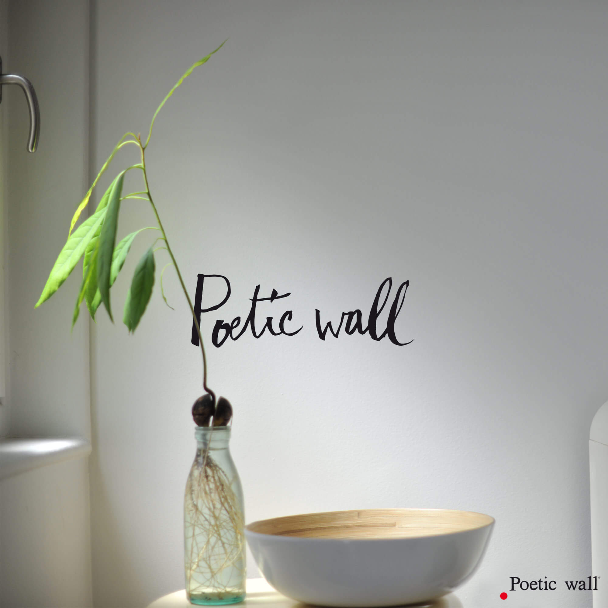 stickers texte poetic wall