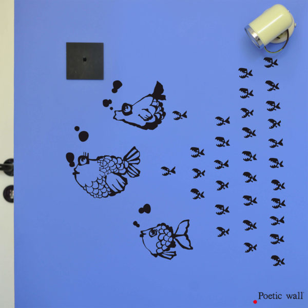 Stickers poissons Piranha chambre d'enfants Poetic Wall