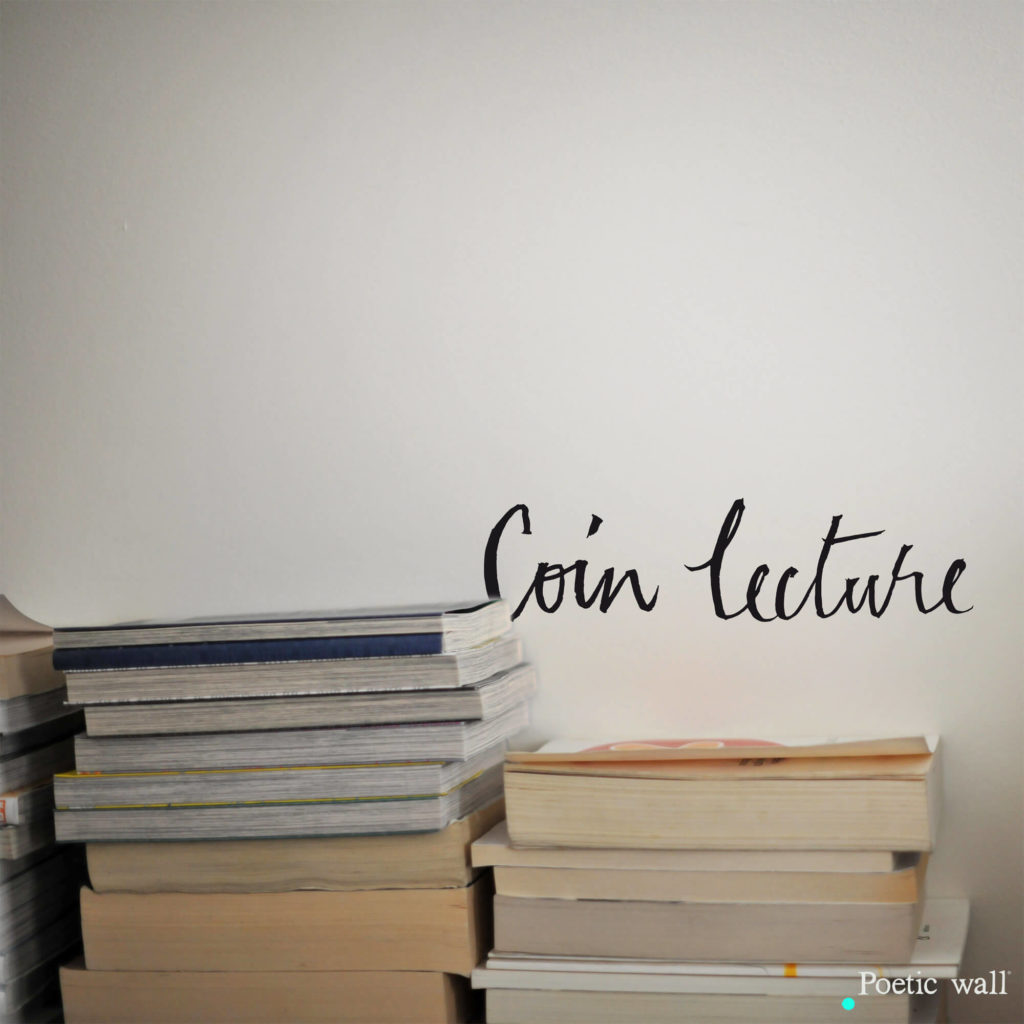 sticker texte coin lecture poetic wall