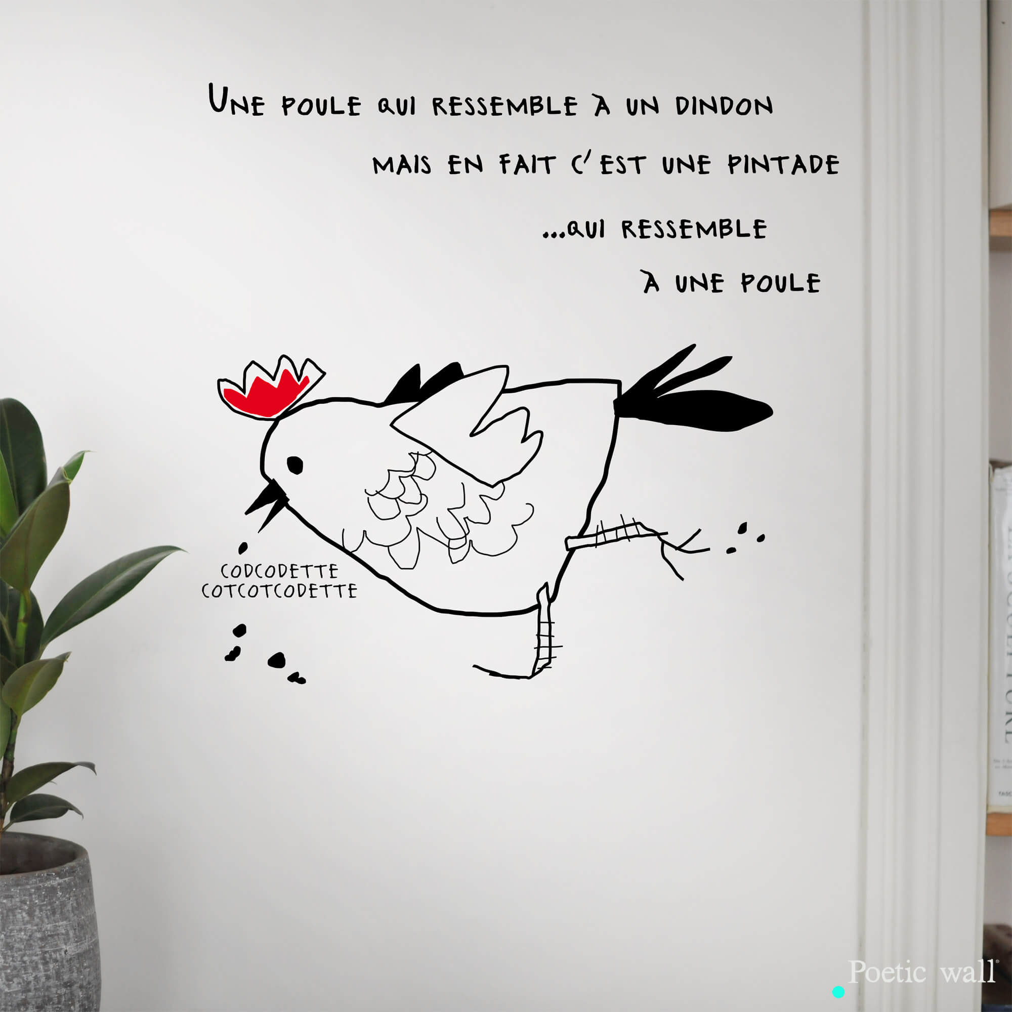 stickers-le-sosie-de-la-poule-poetic-wall