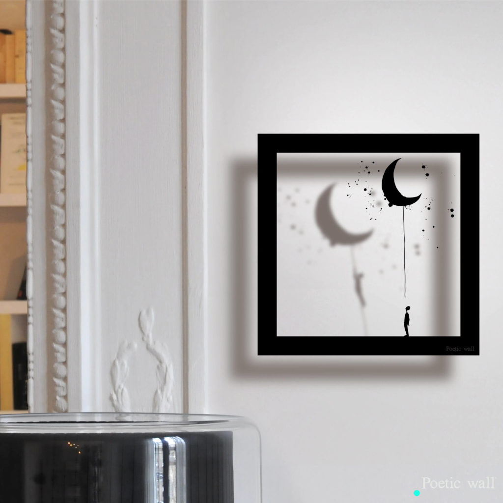 © Stickers Cadre Ombre la lune by Poetic Wall