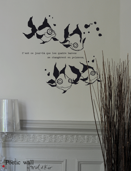 Sticker Poissons Les barons Poetic Wall