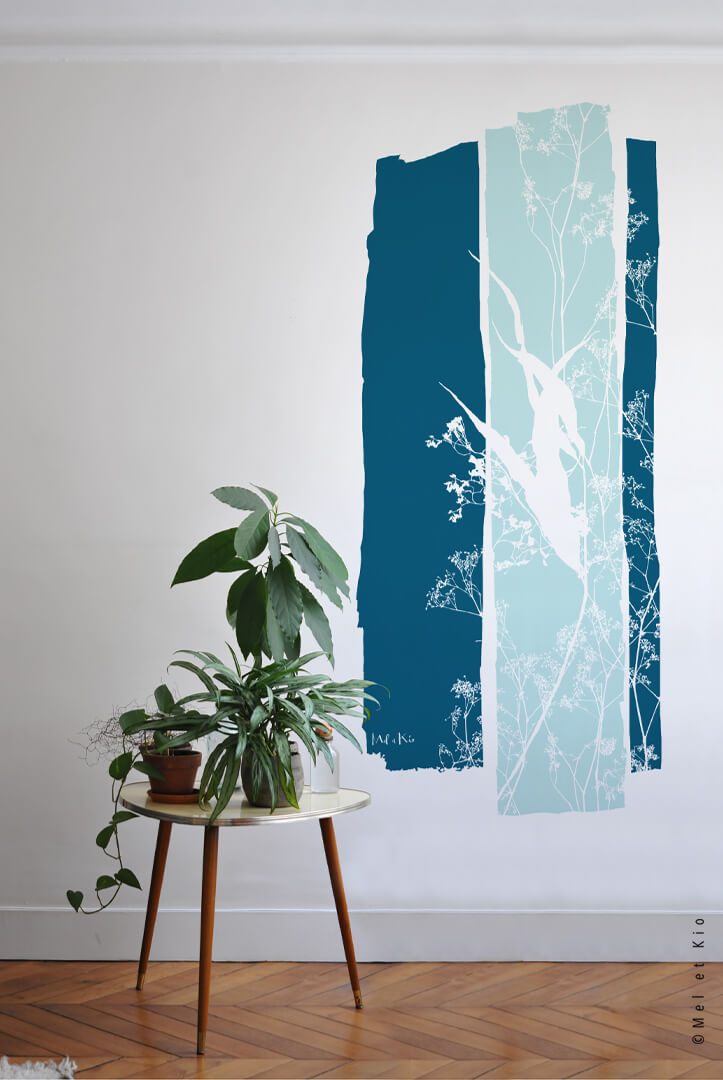 Stickers laie décor mural feuillage grand format premium L'alliance design by Poetic Wall