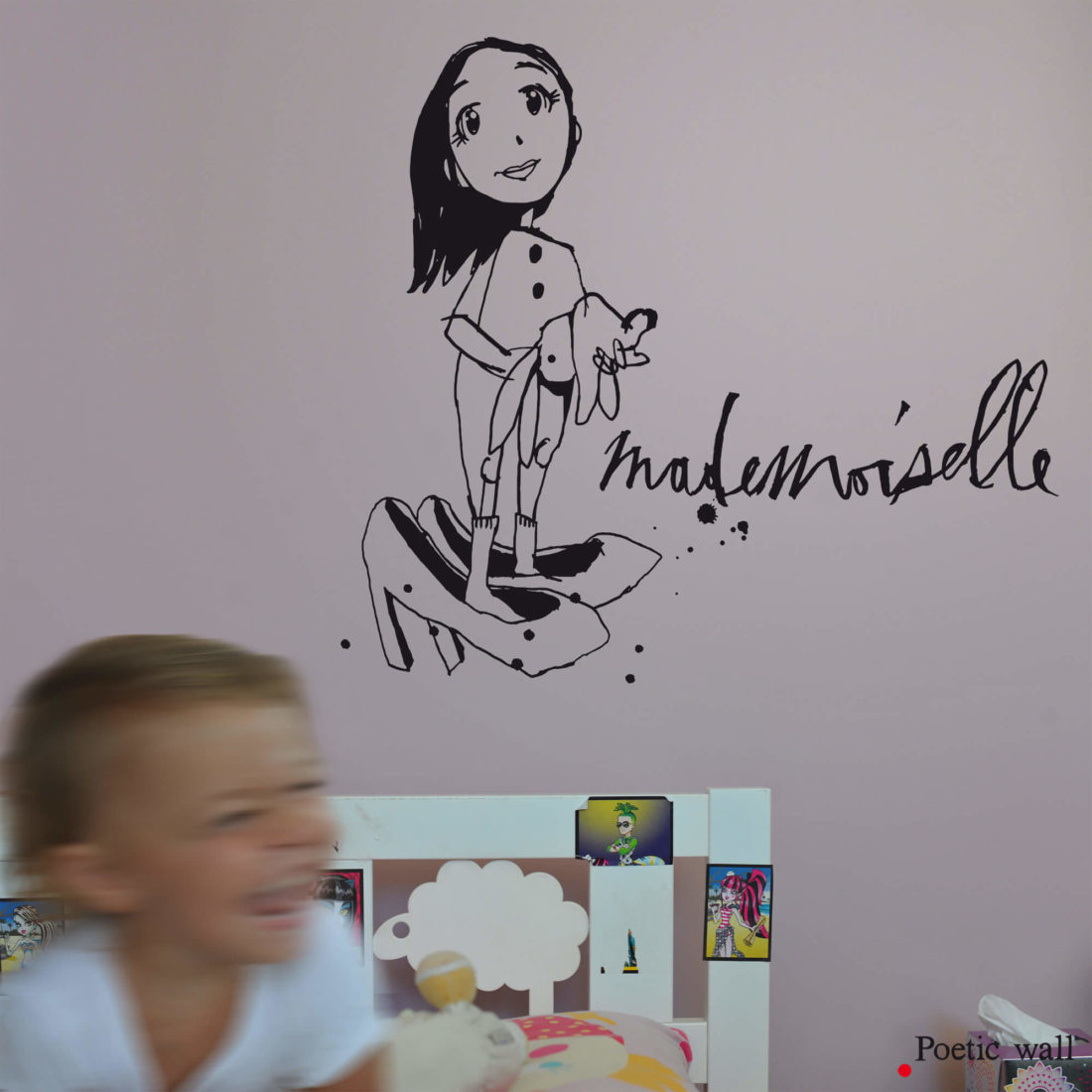 mademoiselle stickers original dessin by Poetic Wall