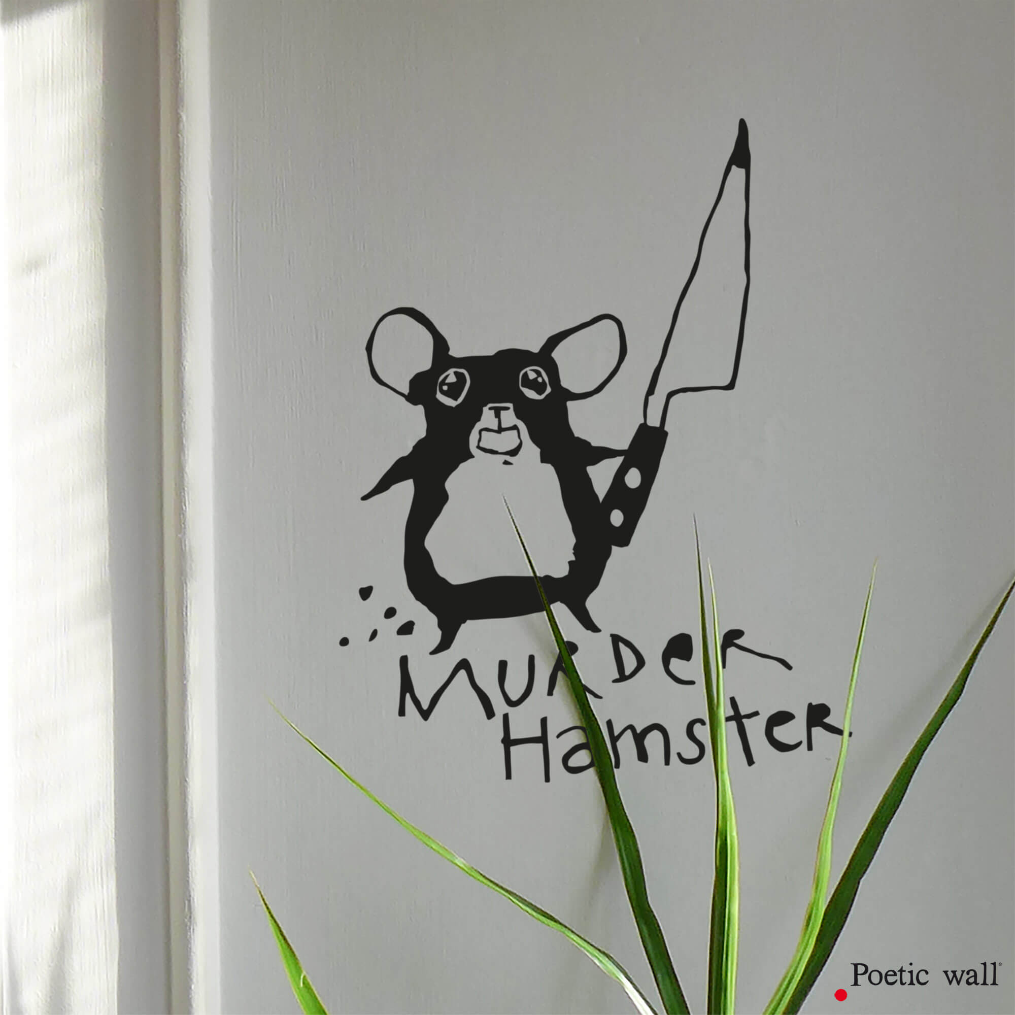 Stickers Murder Hamster dessin original by Poetic Wall