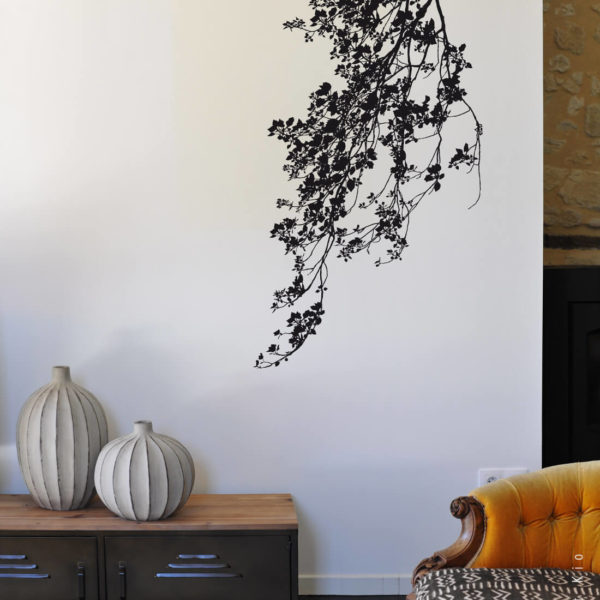 Stickers feuillage grand format Au bord du chemin by Poetic Wall