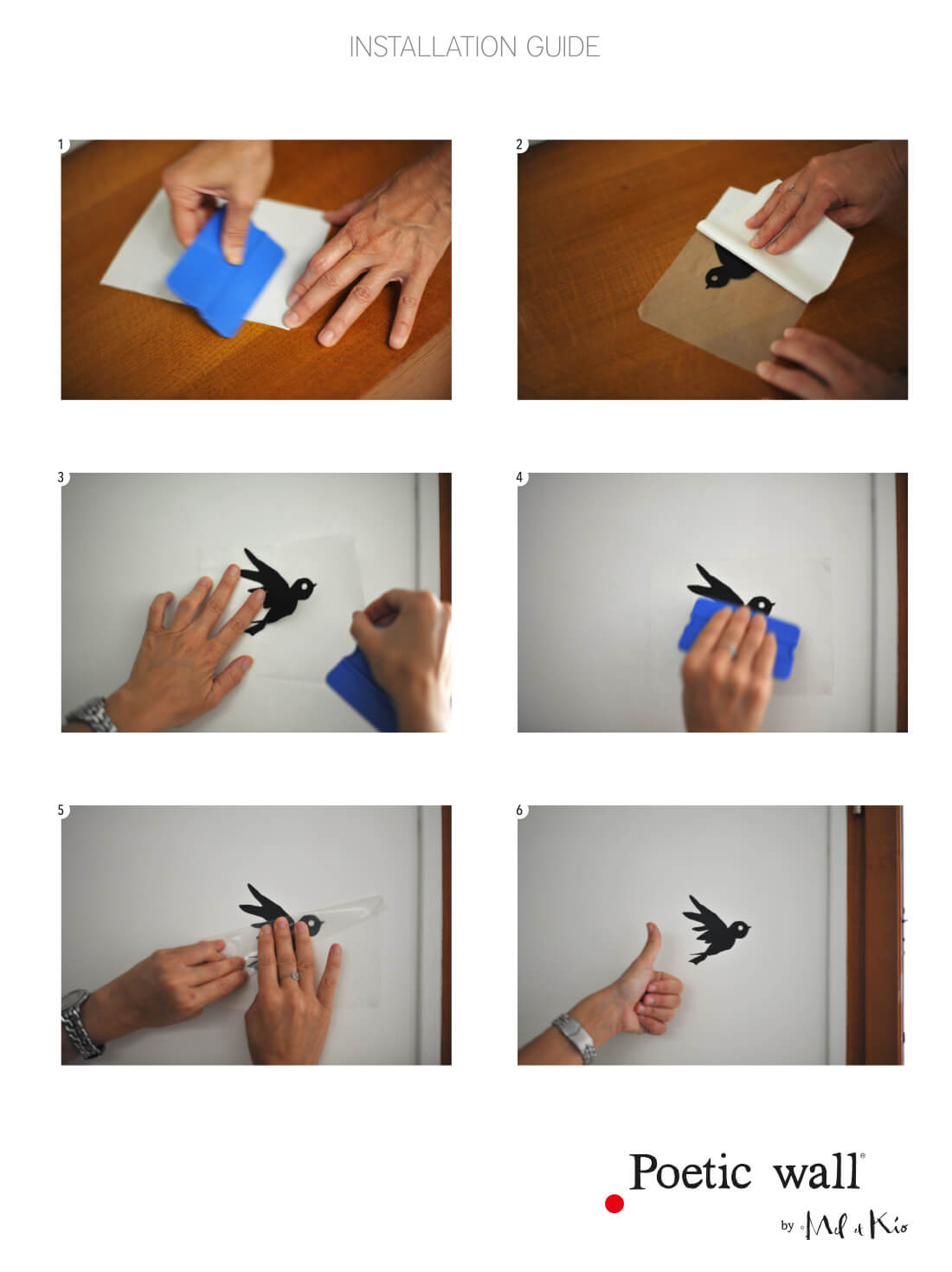 Guide d'installation stickers muraux Poetic Wall
